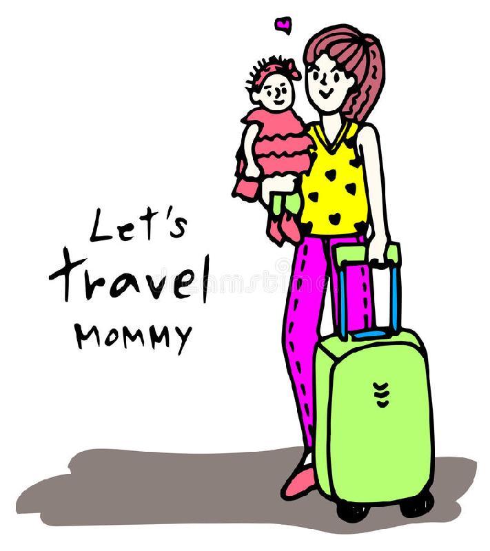 voyager avec l'enfant